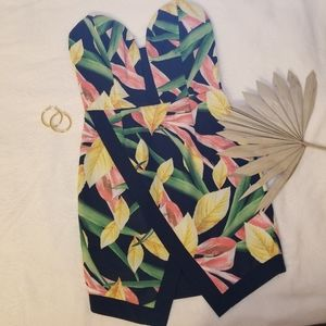 Peppermayo Tropical Bustier Tube Dress